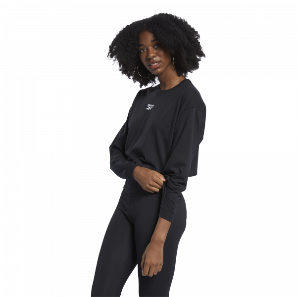 CLASSICS FOUNDATION VECTOR LONG-SLEEVE TOP LONG-SLEEVE TOP - SVARTUR