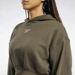 CLASSICS CROPPED HEAVYWEIGHT FRENCH TERRY HOODIE - GRÆN